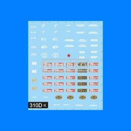 TT obtisk 310 D